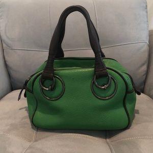 green leather Bottega Veneta handbag bag.